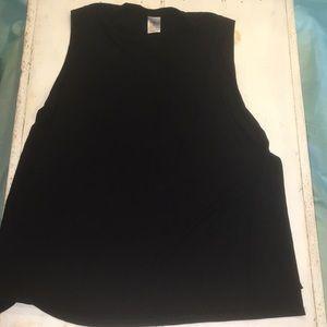 Black athletic shirt